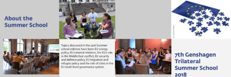 7th Genshagen Trilateral Summer School 2018 - deadline 27 May